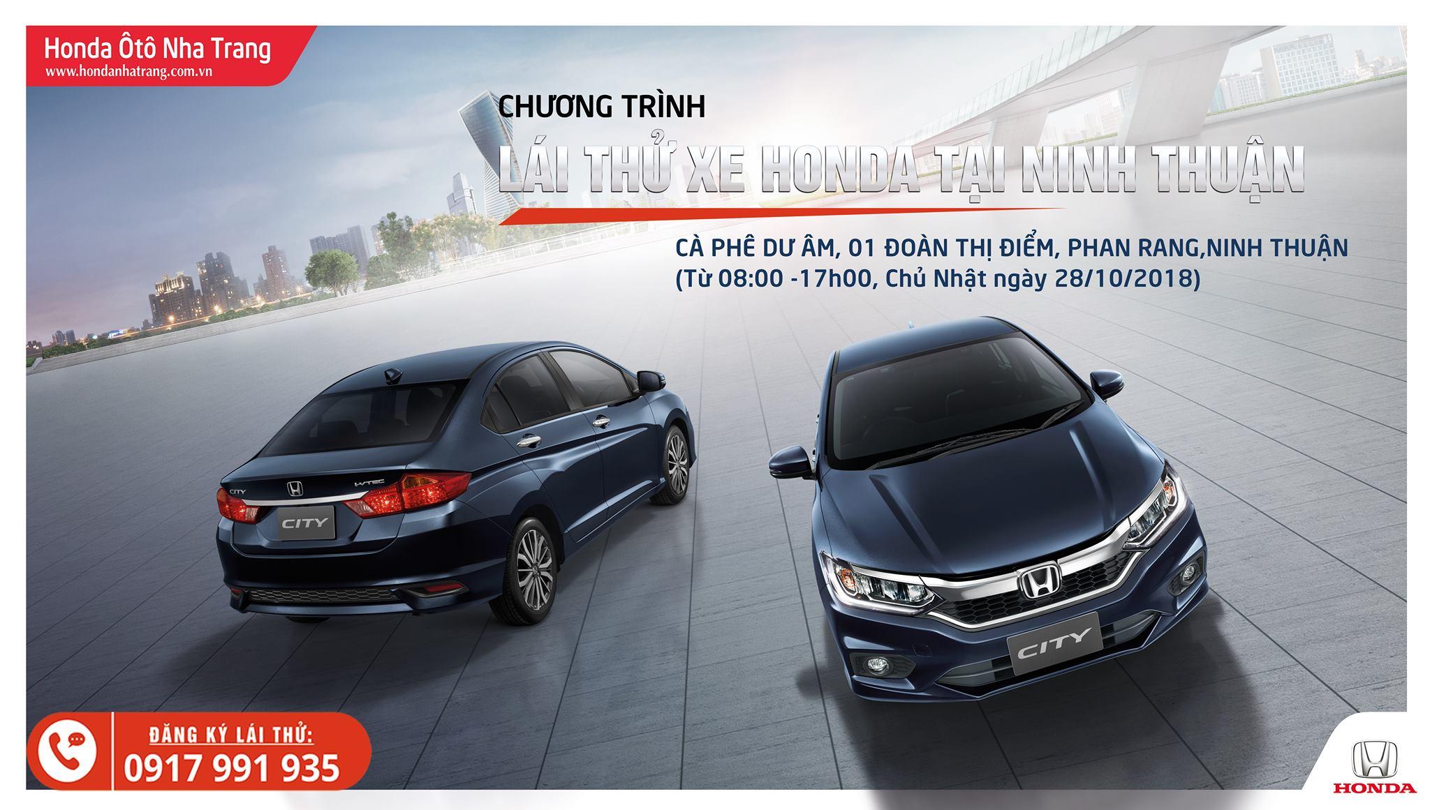 Trải nghiệm & Lái thử Honda Ôtô của Honda Ôtô Nha Trang tại Ninh Thuận