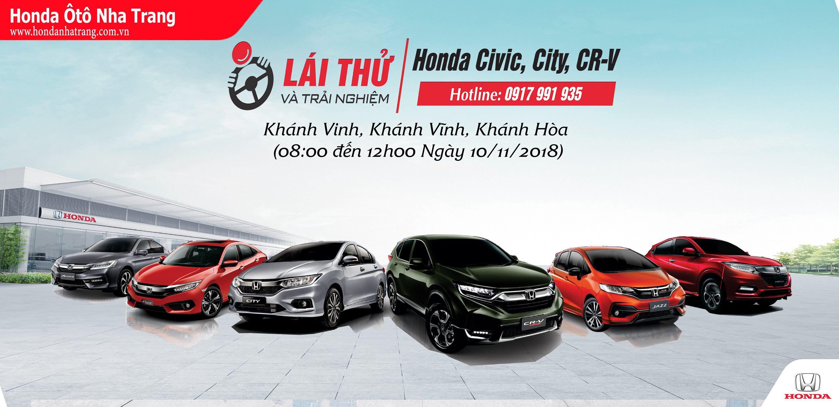 Trải nghiệm & Lái thử Honda Ôtô của Honda Ôtô Nha Trang tại Khánh Vĩnh, Khánh Hòa