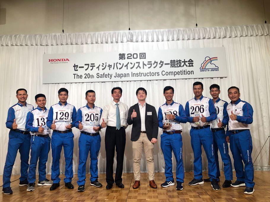Honda Việt Nam giành chiến thắng thứ 6 tại Cuộc thi Hướng dẫn viên Lái xe an toàn Quốc tế 2019