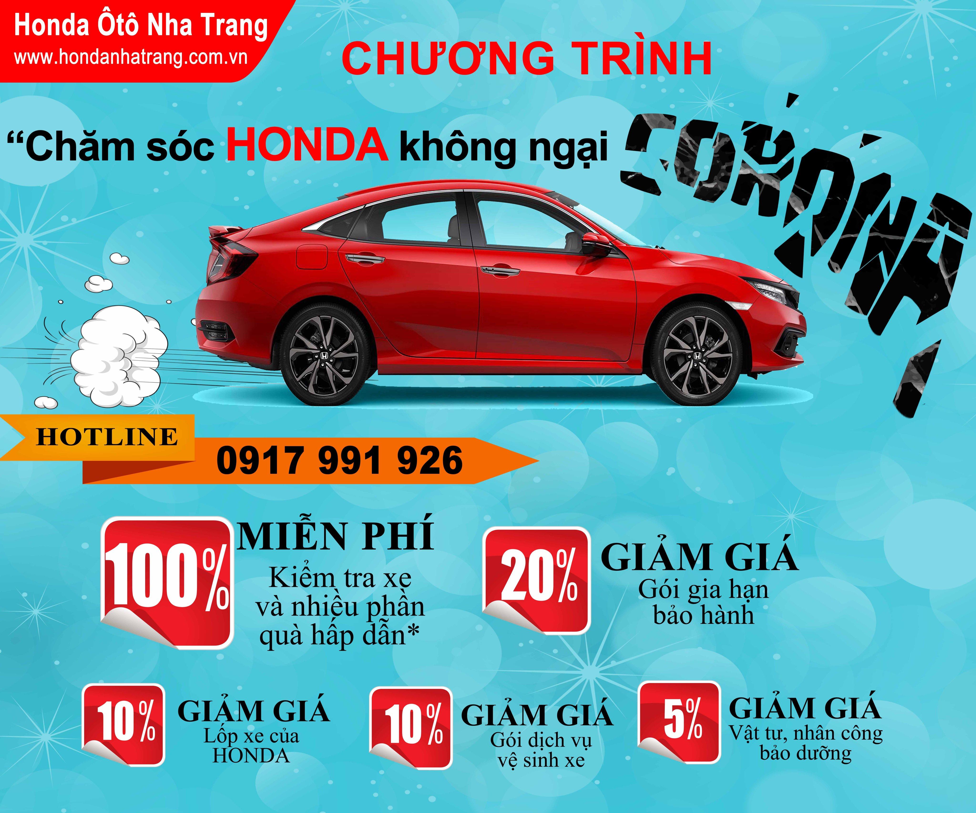 Chăm sóc Honda không ngại Corona – Honda Ôtô Nha Trang