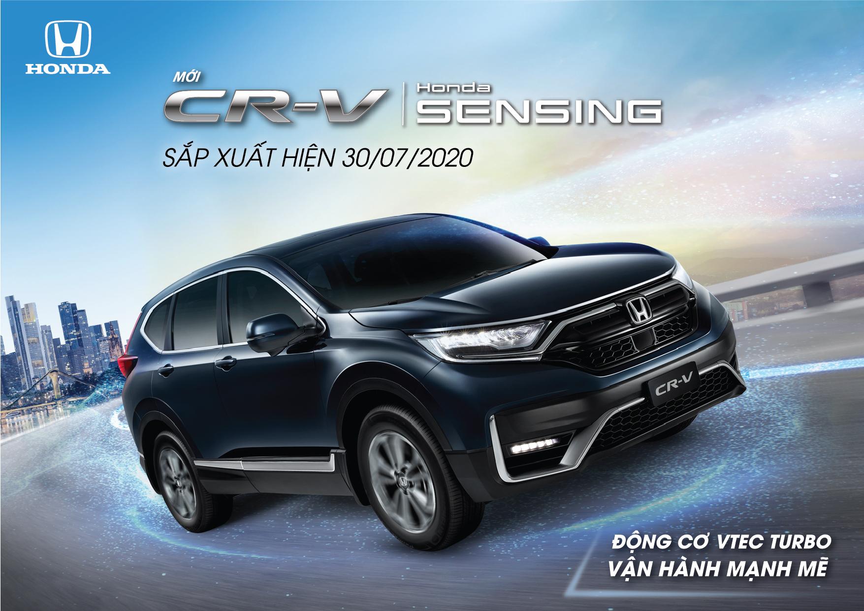 Honda CR-V Facelift 2020 sẽ được ra mắt vào ngày 08/08/2020