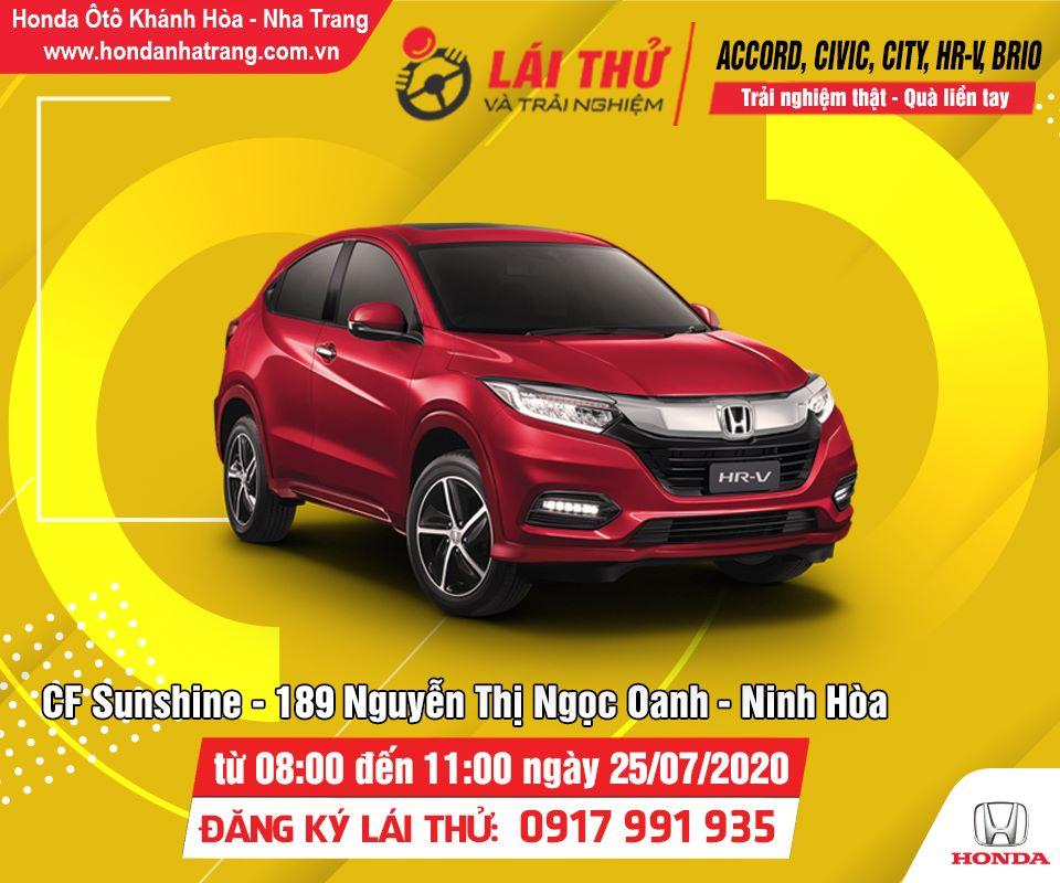 Chương trình lái thử Fun To Drive được diễn ra tại Thị xã Ninh Hòa vào ngày 25/07 tới