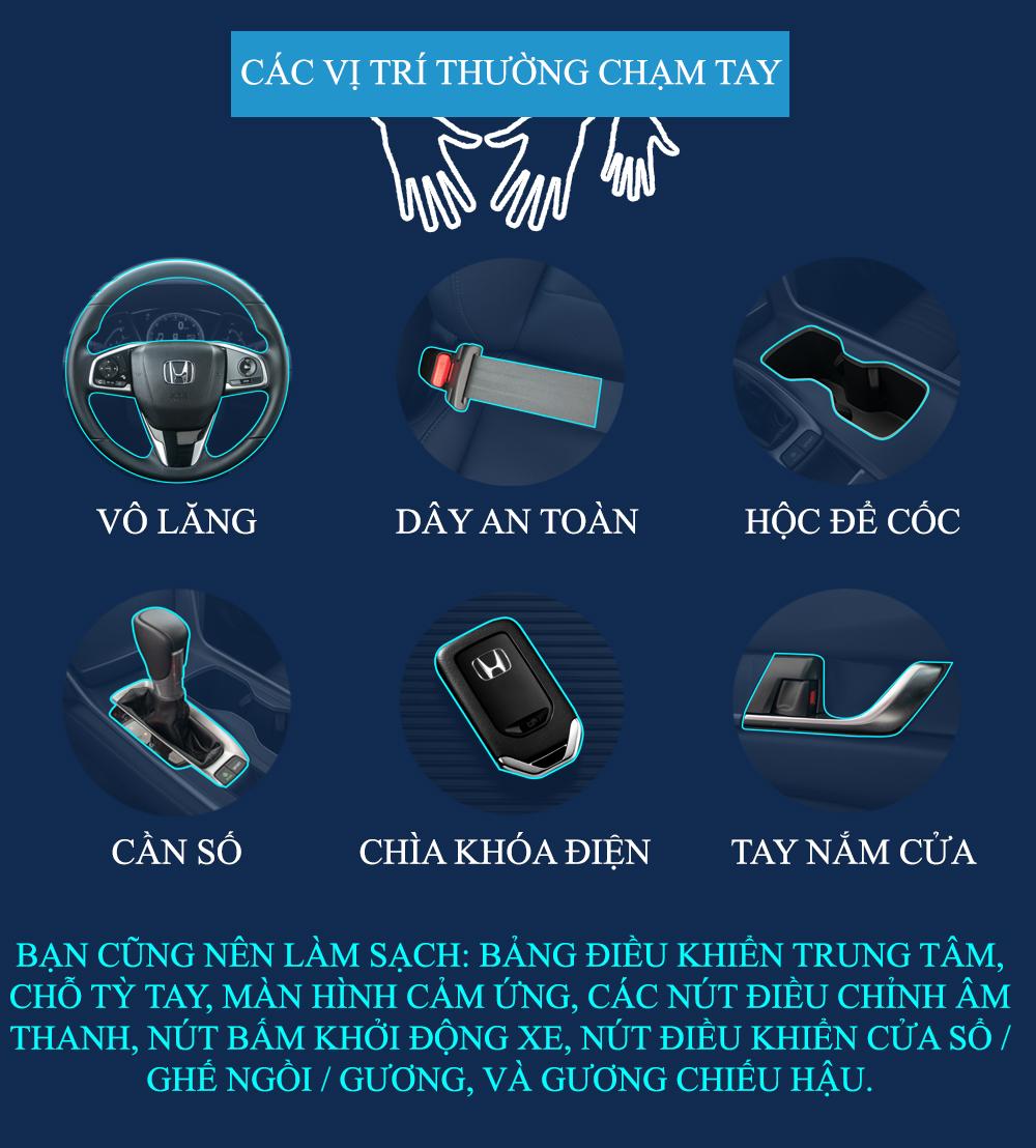 Hãy lựa chọn các sản phẩm làm sạch chuyên dụng giúp đảm bảo an toàn nội thất xe.