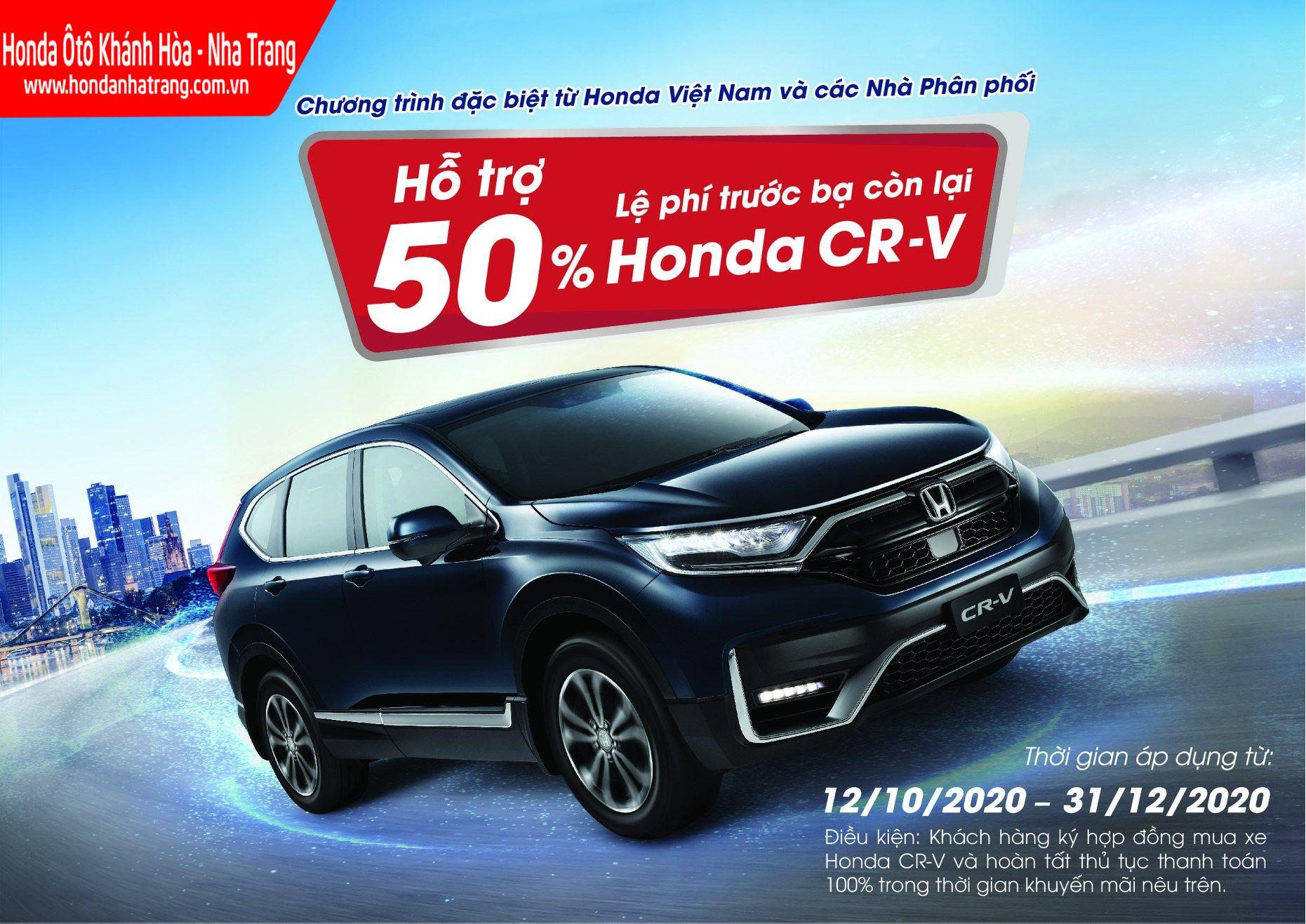 Honda Việt Nam hỗ trợ giảm 50% lệ phí trước bạ còn lại dành cho mẫu xe Honda CR-V 2020