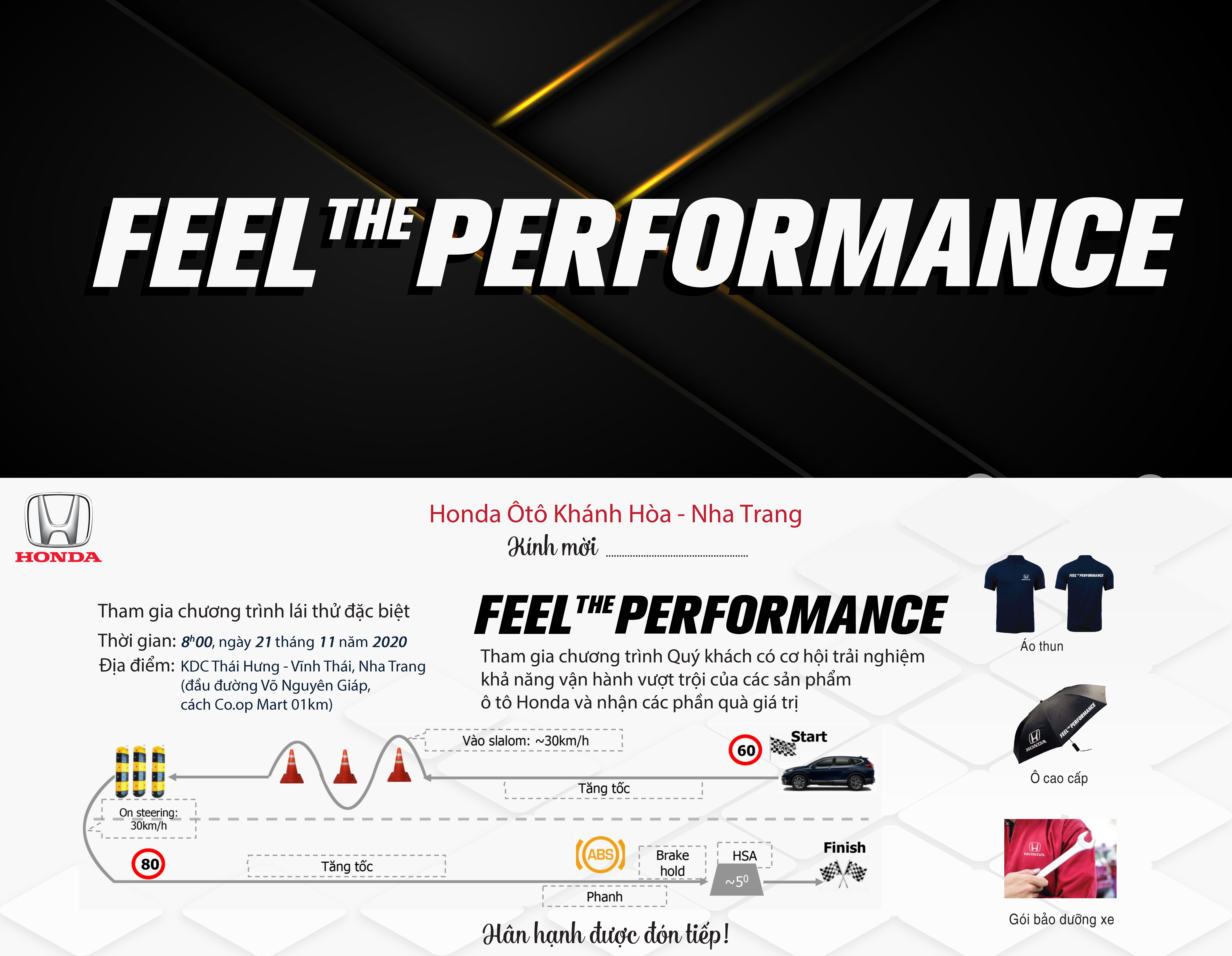 Chiến dịch Feel The Performance cùng Honda Ôtô Khánh Hòa – Nha Trang