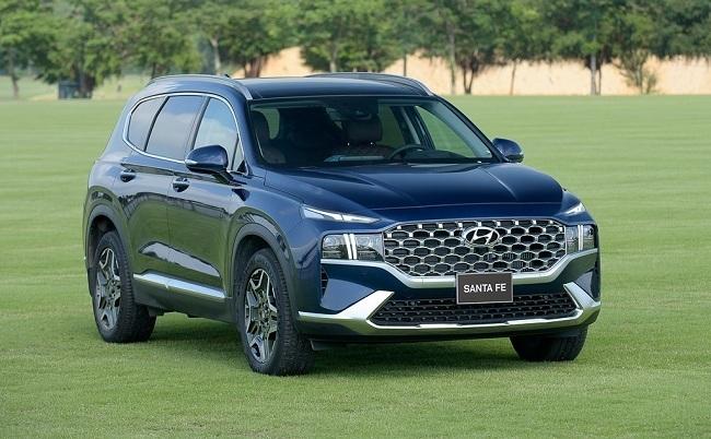 Hyundai SantaFe tiếp tục có tăng trưởng doanh số dương trong tháng 6/2021